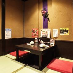 少人数でのご来店も大歓迎です◎昔の日本家屋を思わせるなんとも落ち着く店内。掘りごたつの席でゆったりおくつろぎ下さい。旬の食材を使用した自慢のお料理と豊富な種類のドリンクをお楽しみ頂ける飲み放題付宴会コースを各種ご用意しています。駅近で便利な【わん 荻窪店】♪