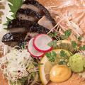 料理メニュー写真浅〆金華サバの藁焼き