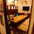 お座敷個室は1日1組先着となります!5~8名様の利用に最適です。ご予約はお早めに!