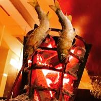 愛知産の鮎の炉端焼です