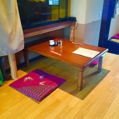 4名様のお座敷テーブル席です。※テーブルの移動・追加・連結が可能なので大人数の宴会にも対応できます。