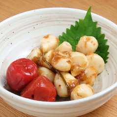 梅ニンニク/うずらの煮たまご