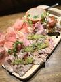 料理メニュー写真肉の前菜盛合せ