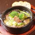 料理メニュー写真ラム肉のアヒージョ