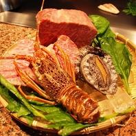 旬な食材を目の前で調理する鉄板焼きをお楽しみ頂けます