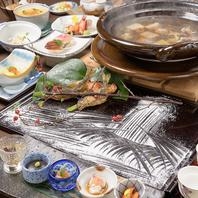 旬物、こだわりの食材を使用した各種鍋