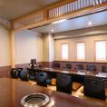 各お部屋をつなげて、2~30名様までご利用可能なVIP個室をご用意しております。接待のご利用にも最適です。