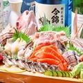 料理メニュー写真コースの一品【本日仕入れた鮮魚5点盛り】