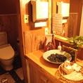 店内のお手洗いは清潔感が行きとどいてます
