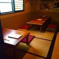 ※お客様の人数に合わせたお席をご用意いたします。※テーブルの移動・追加・連結が可能なので大人数の宴会にも対応できます。