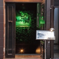 【VIP個室×貸切】★こちらが入口。ドアの上の緑の提灯が目印☆