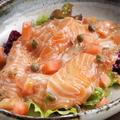 料理メニュー写真自家製サーモンマリネ