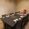 8名迄OKのテーブル個室