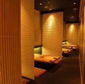 落ち着いた雰囲気で食事できる半個室