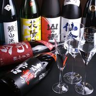 豊富な日本酒は常時50種以上♪