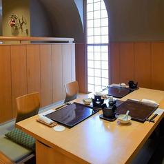 ---「二ノ丸」--- 6名様の半個室席。ご家族のお食事や少人数での宴会などにもご利用いただけます。