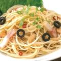 料理メニュー写真ベーコンのペペロンチーノ