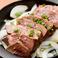 料理メニュー写真国産レバステーキ