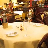 【2名様に最適】丸テーブルのお席です。
