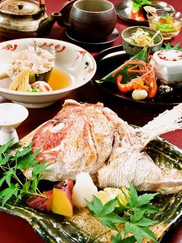 創業57年、淡路島の天然真鯛を使った日本料理の老舗。