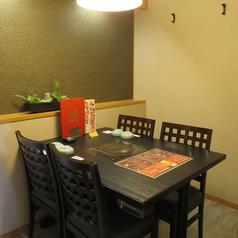 4名迄OKのテーブル個室