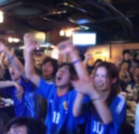 サッカー放映!!
