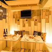 半個室のプライベート空間も完備しております。最大8名様まで可能!周りを気にせずにお食事したい方にピッタリです◎