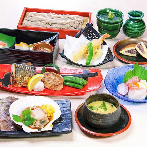 備長炭焼と蕎麦を愉しむコース<全8品> お料理のみ3000円