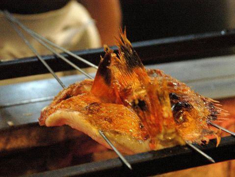 【吉次(きんき)炭火焼】お魚とお肉を堪能すコース9品 6000円