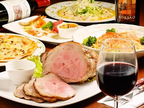 自家製ローストポークに100%ビーフのハンバーグ♪お肉が自慢の洋食屋さん!