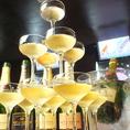 【シャンパンタワー】貸切のお客様には特別にシャンパンタワーをプレゼント♪