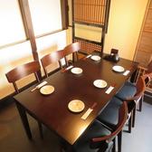 テーブル席個室もご用意。隣のお客様の声も気にならず、ゆったりとお寛ぎ頂けます。総席数62席を完備!ご宴会最大40名様までOK!お席詳細・人数・ご予算など、お気軽にお問い合わせください!※写真は一例です