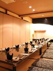 大型宴会にも最適な座敷は人数に応じてレイアウト変更OK!