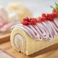 料理メニュー写真ロールケーキ苺クリーム