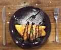 料理メニュー写真バニラアイスオムレツ