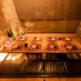洗練された上質な大人のための個室席は、お客様にプライベートじゃお時間をご提供致します♪少人数様から団体様まで、人数様に合わせて広々個室席を完備!!ゆったり寛げる造りとなっておりますので、新橋エリアでの接待や歓送迎会・結婚式の二次会などの各種ご宴会に最適です◎飲み放題付き宴会コースも各種ご用意♪