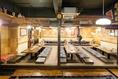 掘りごたつ仕様のご宴会個室です。最大50名までご宴会可能です!!