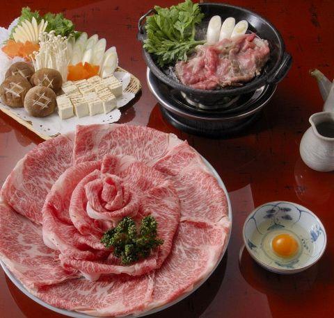 【すき焼き 松定食】≪全10品≫14,520円(税・サ込)