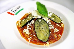 料理メニュー写真茄子とトマト