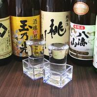 和食との相性抜群の日本酒や焼酎などのお酒豊富にご用意