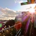 太陽に映し出される景色は圧巻!これがCafe「天空の城」。