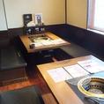 ボックス型の半個室テーブル席!2名様~8名様でご利用いただけます!