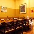 壁・扉ありの完全個室。少人数での宴会にもぴったりのお部屋です。札幌エリアで居酒屋をお探しなら刺身居酒屋うおや一丁札幌駅店へぜひお越しください!美味しい海鮮料理や北海道名物でお客様をおもてなし致します♪(札幌/居酒屋/個室/掘りごたつ/宴会/接待/女子会/合コン/同窓会/飲み会/海鮮/刺身/飲み放題)