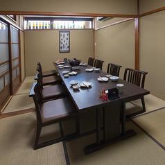 完全個室のお座敷席。