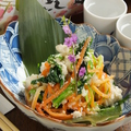 料理メニュー写真京壬生菜と季節野菜の白和え