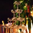 パーティー利用のときにシャンパンタワーもご用意しております!お祝い事などパーティーにもおすすめです♪