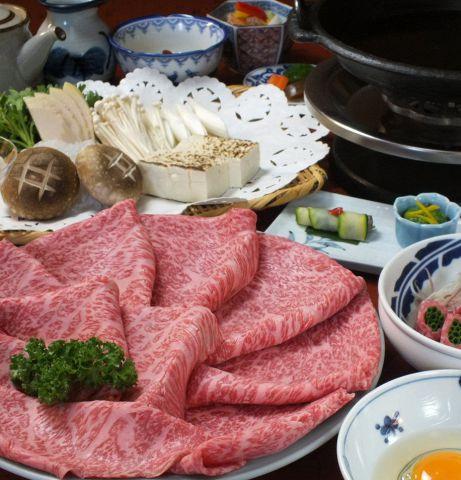 【すき焼き 梅定食】≪全10品≫9,680円(税・サ込)