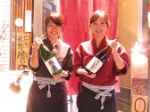 お店のおすすめドリンクは日本酒♪グラスで味わえます♪