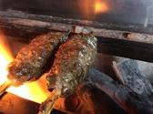 炭火でじっくりとやきあげます。猪のつくねは絶品です。