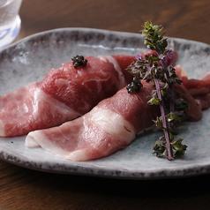 和牛の肉寿司~キャビアのせ~(2貫)